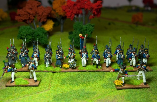 French Infantry. Perry 28mm.