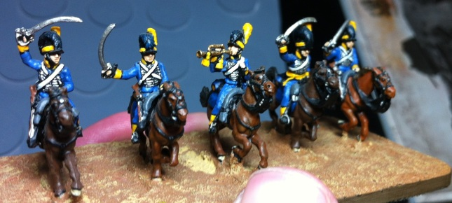 British Light Dragoons. AB Figures. 18mm.