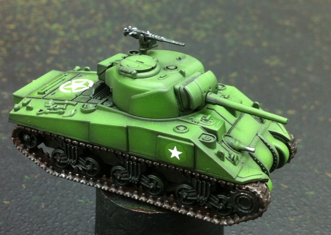 M4A4 Sherman. Plastic Soldier Company 15mm.