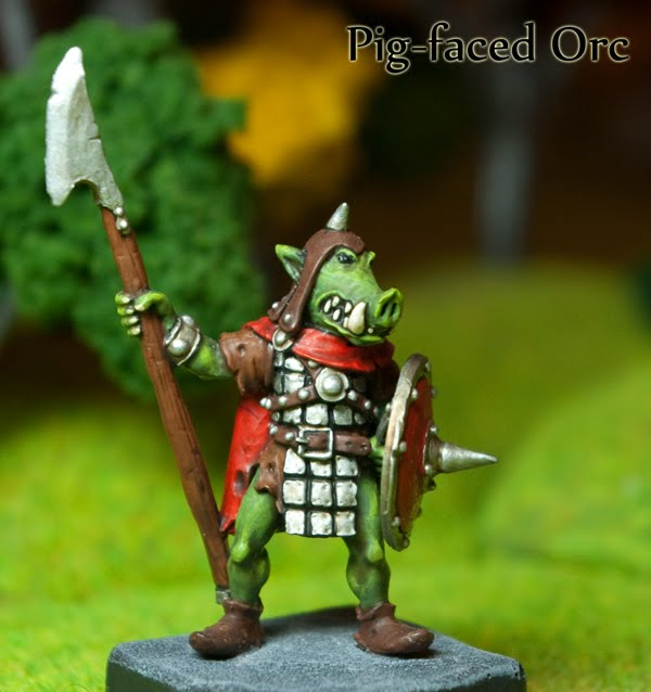 Pig-Faced Orc. Otherworld 28mm.